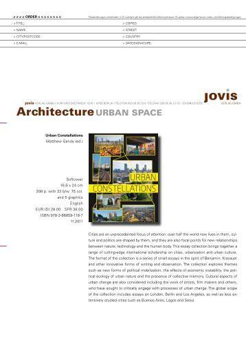 ArchitectureurbAn spAce - Jovis Verlag