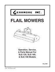 FLAIL MOWERS - Gearmore, Inc.