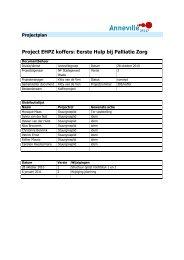 Project EHPZ koffers: Eerste Hulp bij Palliatie Zorg - Annevillegroep
