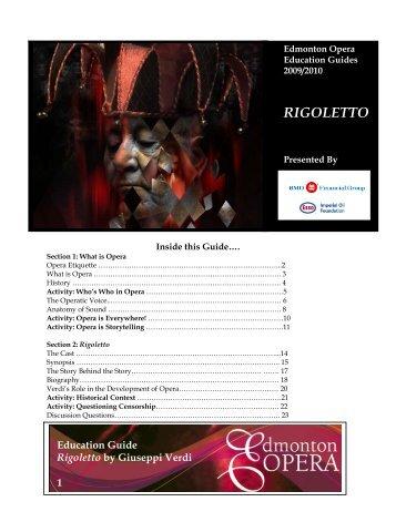 RIGOLETTO - Edmonton Opera