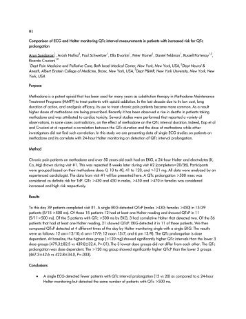 91 Comparison of ECG and Holter monitoring QTc ... - PAINWeek