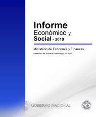 Informe Economico y Social - Diciembre 2010 - Ministerio de ...