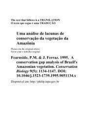 Uma análise de lacunas de conservação da vegetação da Amazônia