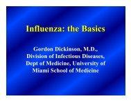Influenza: the Basics - Miami-Dade County Health Department