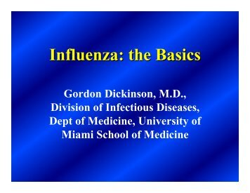 Influenza: the Basics - Miami-Dade County Health Department