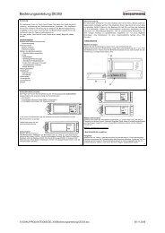 Bedienungsanleitung DE305 - Swissphone