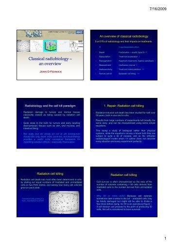 7. Fenwick Classical radiobiology