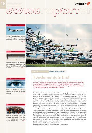 Ground Handling Charges : Terminal charges for ground handling services swissport