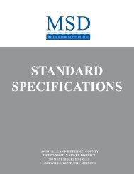 standard specifications cover - MSD