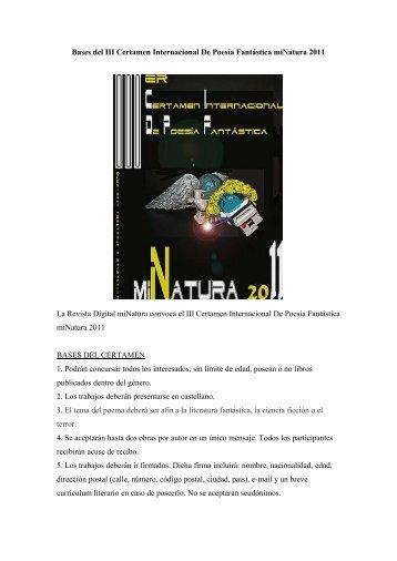Bases del III Certamen Internacional De Poesía ... - servercronos.net