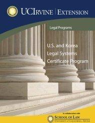 U.S. and Korea Legal Systems Certificate Program - UC Irvine ...