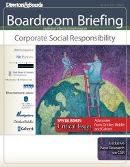 Corporate Social Responsibility - Directors & Boards