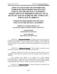 CODIGO DE PROCEDIMIENTOS PENALES - Tijuana