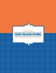 A Resource for Student Evaluation Personnel in Schools ...
