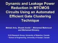 Dynamic and Leakage Power Reduction in MTCMOS Circuits (PDF)