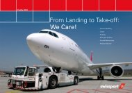 From Landing to Take-off: We Care! - Swissport