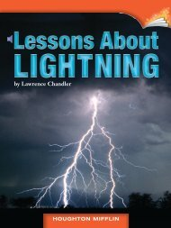 Lesson 8:Lessons About LIGHTNING