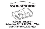 Operating Instructions Swissphone DE920,  DE920Ex, DE940