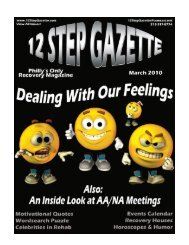 March 2010 - 12 Step Gazette