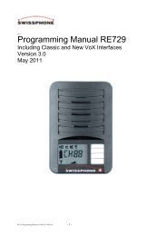 Programming Manual RE729 - Swissphone
