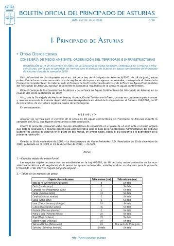 pesca - Gobierno del principado de Asturias