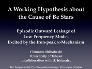 A Working Hypothesis about the Cause of Be Stars : Episodic ...