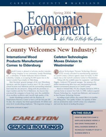 Spring 2004 - Carroll County Department of Economic Development