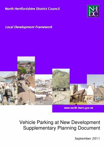 Vehicle Parking at new development SPD - North Hertfordshire ...