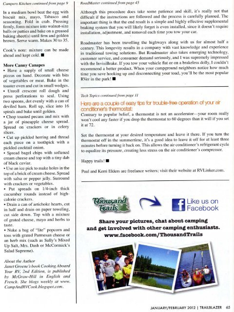 InvisiBrake featured in TrailBlazer Magazine article - Roadmaster Inc.