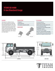 TITAN XD 4400 5-ton Standard Cargo - Titan Trucks