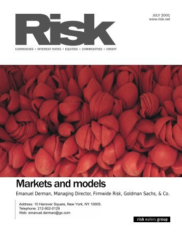 risk-markets_and_models