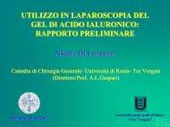 Aderenze - Cattedra Chirurgia Tor Vergata