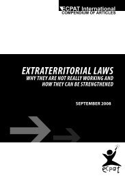 EXTRATERRITORIAL LAWS - Ecpat France
