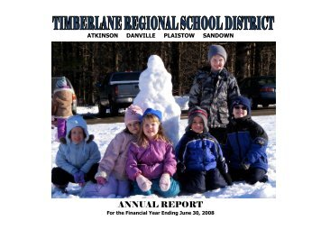2008 Annual Report - Timberlane Regional School District