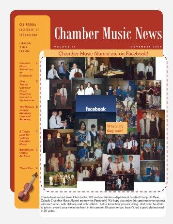 Chamber Music News