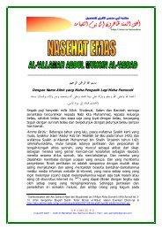 Nasehat Emas Untuk Sesama Ahlus Sunnah dari ... - Abu Zubair