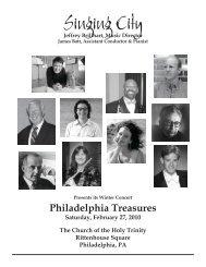 Singing City - New Music Philadelphia