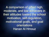A comparison of gifted high, moderate, and low achievers ... - AAEGT