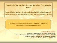 Baixe a apresentação em slides de Ana Maria Cartaxo - CFESS
