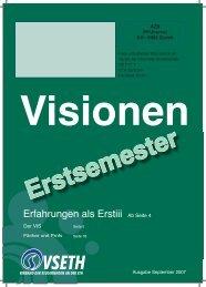 Erstsemestrigenausgabe - Vis - ETH Zürich