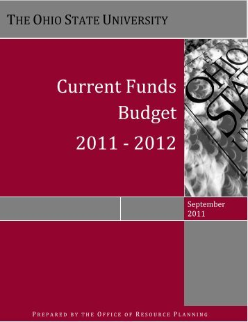 Current Funds Budget 2011 ‐ 2012 - Financial Planning & Analysis
