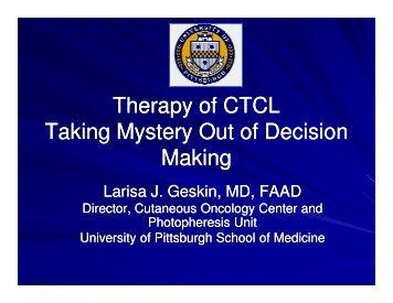 Response - Cutaneous Lymphoma Foundation