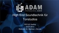 High End Soundtechnik für Tonstudios, 11,8 MB - Vierling