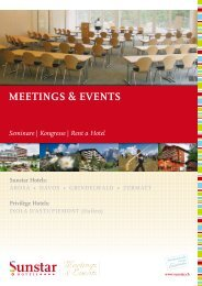 meetinGS & eVentS  Seminare - Sunstar Hotels
