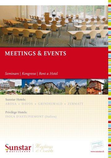 meetinGS & eVentS  Seminare - Sunstar Hotels