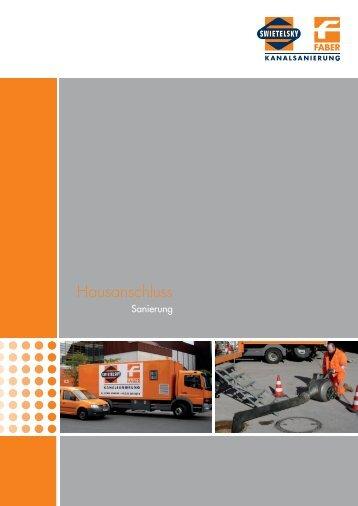 Hausanschluss Sanierung (PDF) - Swietelsky-Faber Kanalsanierung