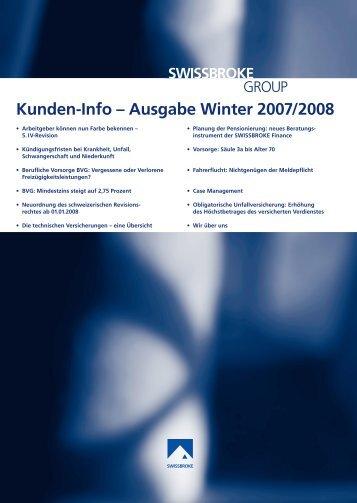 Kunden-Info – Ausgabe Winter 2007/2008 - swissbroke