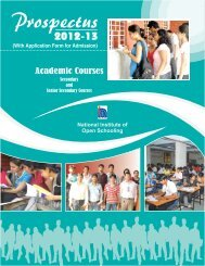 Prospectus - National Institute of Open Schooling