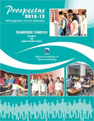 Prospectus - National Institute of Open Schooling