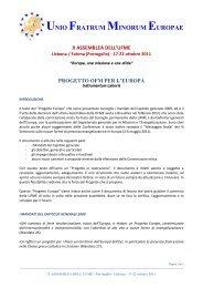UNIO FRATRUM MINORUM EUROPAE - OFM